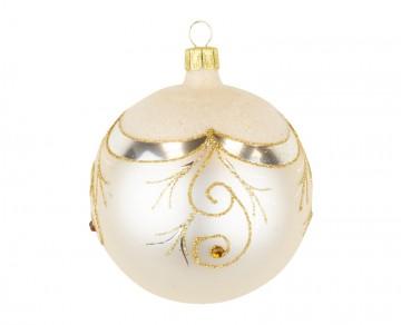 Vánoční koule šampáňo, závěs