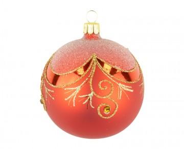Vánoční koule červená, závěs