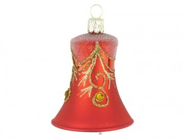 Vánoční zvonek červený, závěs