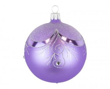 Vánoční koule fialová světlá, závěs