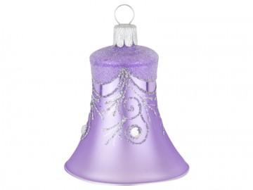 Vánoční zvonek fialový světlý, závěs