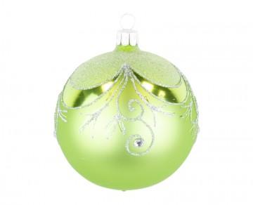 Vánoční koule olivová, závěs