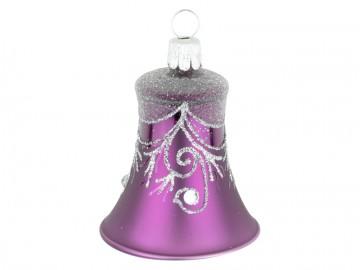Vánoční zvonek fialový tmavý, závěs