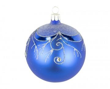 Vánoční koule modrá , závěs