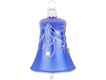 Vánoční zvonek modrý, závěs