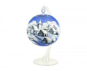Závěsná koule na svíčku, velká modrá