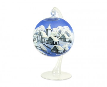 Závěsná koule na svíčku, malá modrá