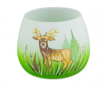 Sklenička na svíčku, jelen
