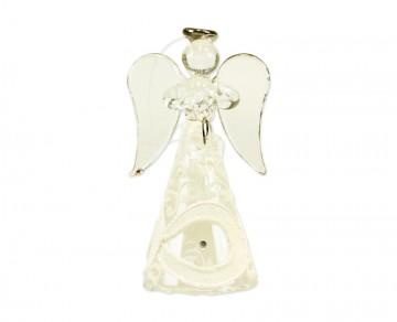 Skleněný anděl perleťový, střední