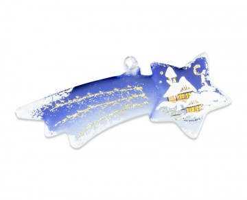 Závěsná dekorace, kometa modrá
