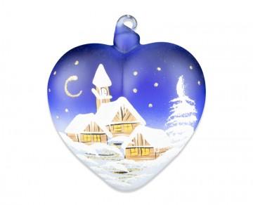 Závěsná dekorace, srdce modré