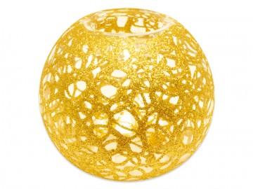 Skleněná koule na svíčku, zlatá