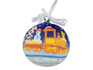 Skleněná koule vlak, modrá