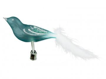 Skleněný ptáček, tyrkysový