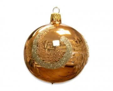 Vánoční koule béžová, oblouky