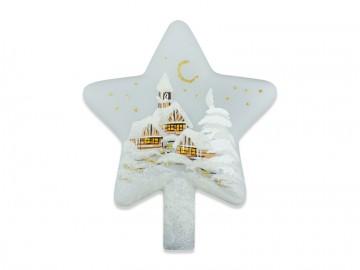 Vánoční špice perleťová, hvězda