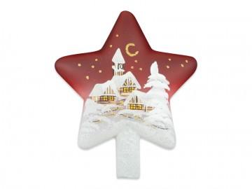 Vánoční špice červená, hvězda
