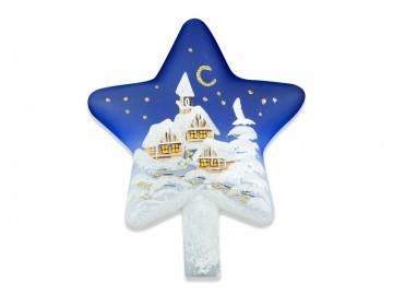 Vánoční špice modrá, hvězda