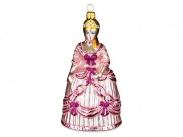 Skleněná figurka princezna, lila
