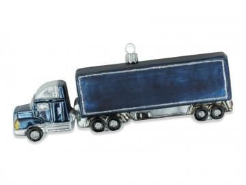 Skleněné auto kamion, stříbrné