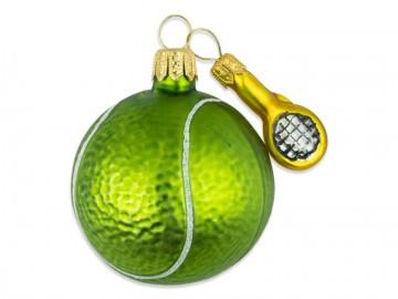 Vánoční ozdoba tenisový míček, lahvová