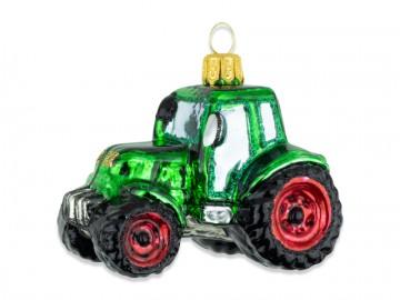 Skleněné auto traktor, lahvový