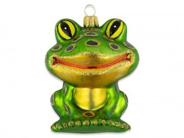 Skleněné zvířátko žába, lahvová