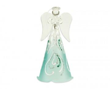 Skleněný anděl tyrkysový