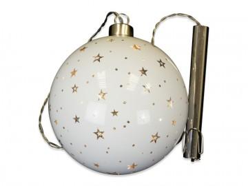 Skleněná LED koule, perleťová
