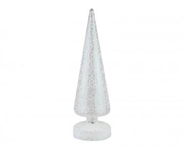 Skleněný LED stromek drátek, bílý