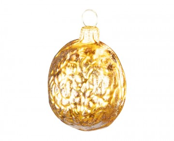 Přírodní tvar oříšek, zlatý