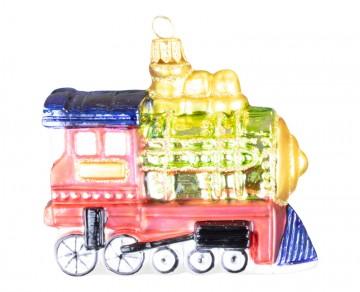 Skleněná lokomotiva, červená