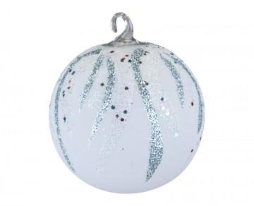 Vánoční koule plamínek, světlemodrá