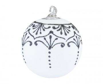 Vánoční koule ornament, bílá