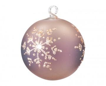 Vánoční koule vločka, hnědá
