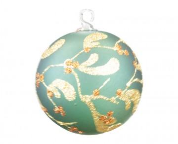 Vánoční koule jmelí, zelená