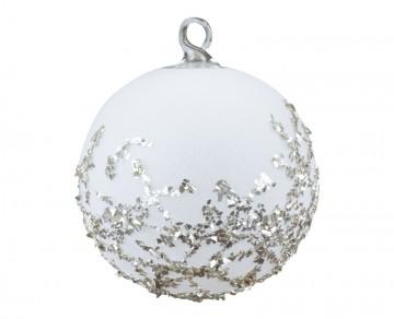 Vánoční koule čáry, bílá
