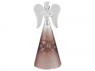 Skleněný anděl hnědý