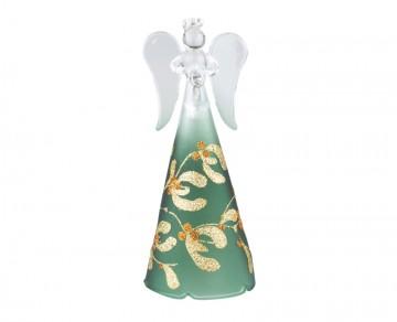 Skleněný anděl zelený
