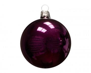 Vánoční koule tmavě fialová, lesklá
