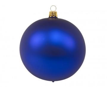 Vánoční koule tmavě modrá, matná