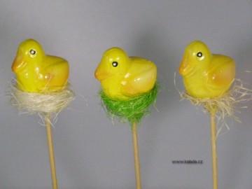 Velikonoční figurka - kačena žlutá