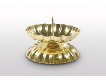 Vánoční svícen na stůl zlatý, S 13