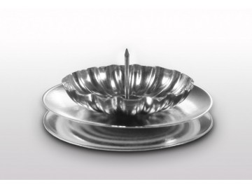 Vánoční svícen na stůl stříbrný, S 18