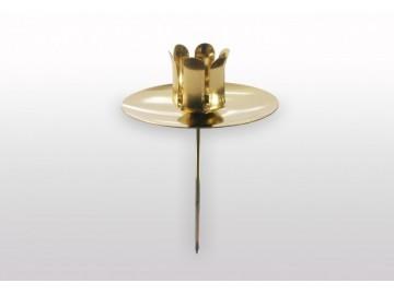 Držák svíčky zlatý S27