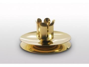 Vánoční svícen na stůl zlatý, S 33