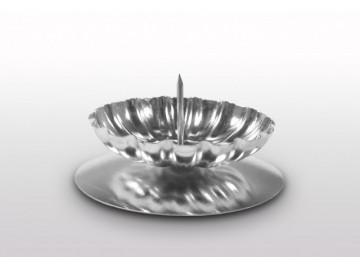 Vánoční svícen na stůl S 34, stříbrný