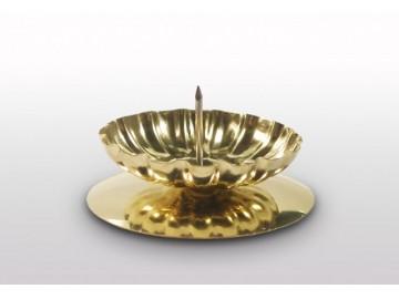 Vánoční svícen na stůl S 35, zlatý