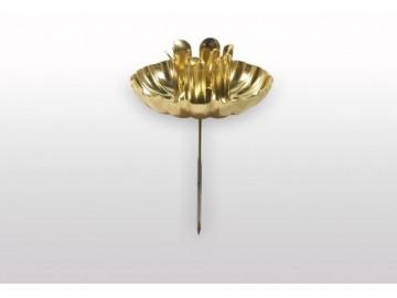 Držák na svíčku zlatý, S 9